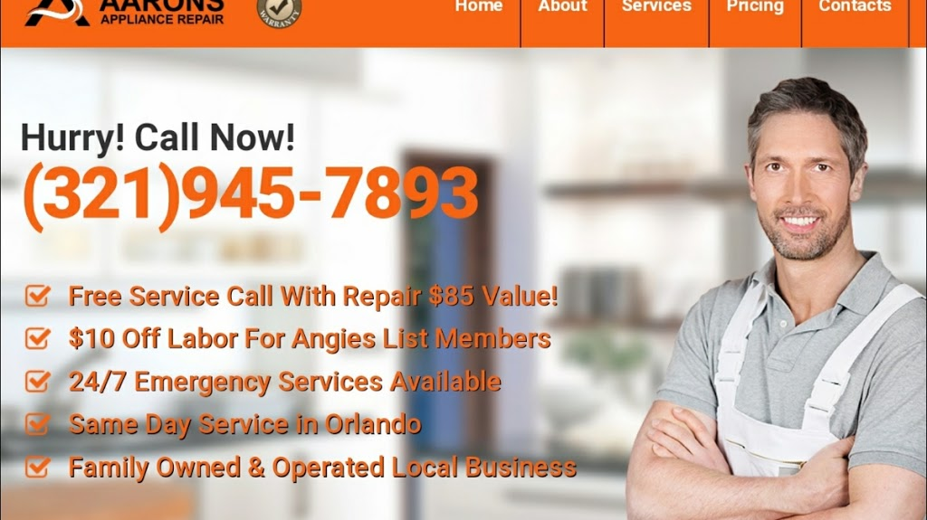 Aarons Appliance Repair - point of interest  | Photo 4 of 9 | Address: 514 Meridale Ave, Orlando, FL 32803, USA | Phone: (321) 945-7893