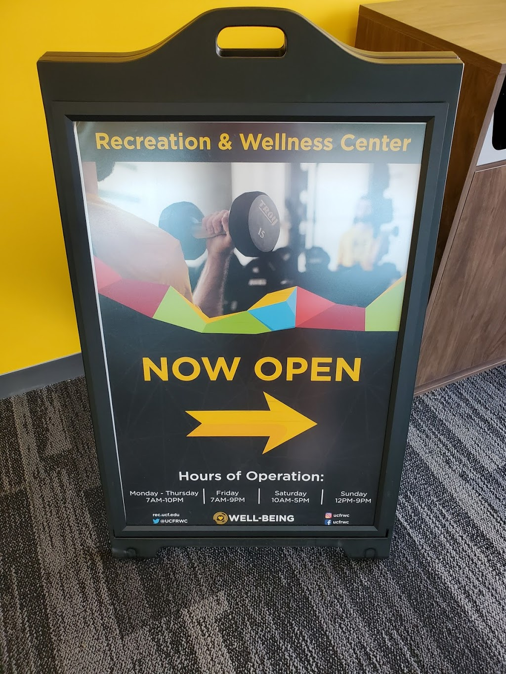 UCF Downtown Recreation and Wellness Center - gym    Photo 1 of 1   Address: UnionWest Room 246A, N Terry Ave and, W Livingston St, Orlando, FL 32801, USA   Phone: (407) 235-3830