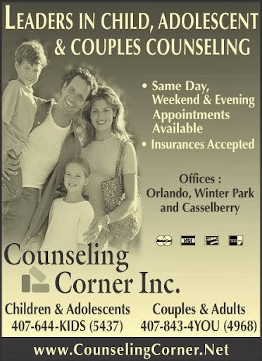 Adolescent and Teen Counseling Center at the Counseling Corner - health  | Photo 3 of 4 | Address: The Counseling Corner, 1631 Hillcrest St, Orlando, FL 32803, USA | Phone: (407) 644-5437